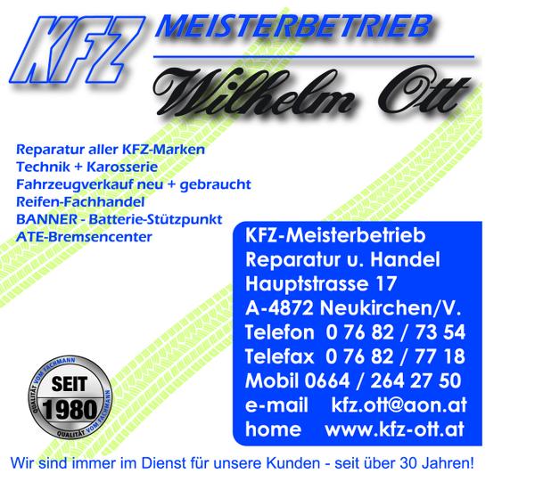 kfz-Meisterbetrieb Wilhelm Ott Neukirchen/Vöckla